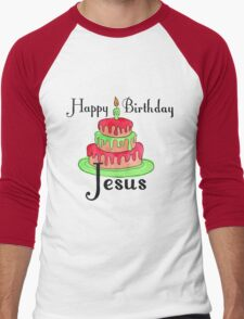 Jesus' Birthday Men's Baseball ¾ T-Shirt