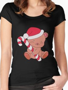 Christmas Bear Women's Fitted Scoop T-Shirt
