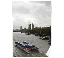 Barge on the Travel Poster