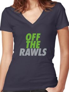 Off The Rawls  Women's Fitted V-Neck T-Shirt