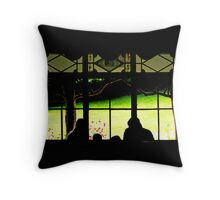 looking through the window... Throw Pillow
