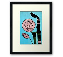 Rose: In the style of Mackintosh Framed Print
