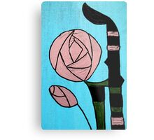 Rose: In the style of Mackintosh Metal Print