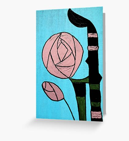 Rose: In the style of Mackintosh Greeting Card