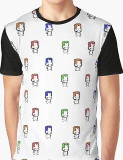 Castle Crashers Knights Pattern Graphic T-Shirt