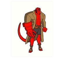 Bruce Timm Style Hellboy Art Print