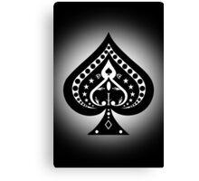 Card Suits: Spades Symbol Canvas Print