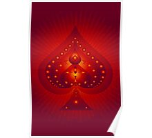 Card Suits: Spades Symbol Poster