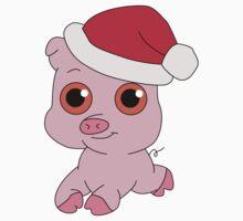 Christmas Pig One Piece - Short Sleeve
