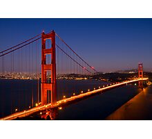 Golden Gate Bridge by Night Photographic Print