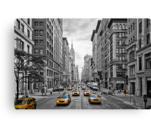 5th Avenue Yellow Cabs - NYC Canvas Print