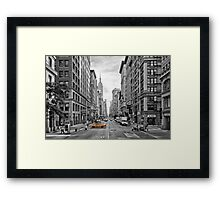 5th Avenue Yellow Cab - NYC Framed Print