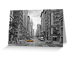 5th Avenue Yellow Cab - NYC Greeting Card