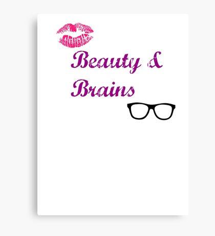 Beauty & Brains Canvas Print