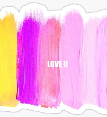 Love U Sticker