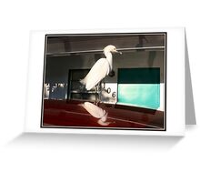 Motel Egret Greeting Card