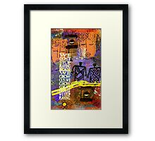 Never Stop Playing Framed Print