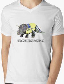 TriceraCops! Mens V-Neck T-Shirt