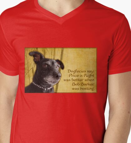 Dogfucius say: Price is Right... Mens V-Neck T-Shirt