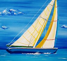 St Martin Sailing in the Caribbean by SlavicaB