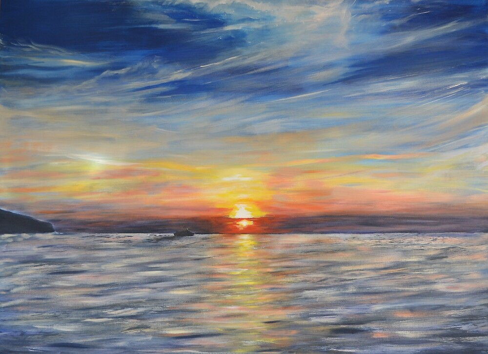 Setting Sun by Mike Paget