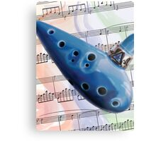 Ocarina Music Metal Print