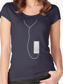 ipod white Women's Fitted Scoop T-Shirt