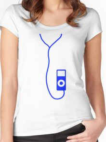 blue ipod Women's Fitted Scoop T-Shirt