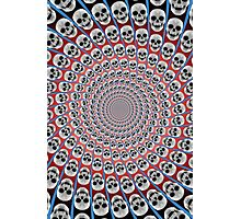 Skull Spiral Photographic Print