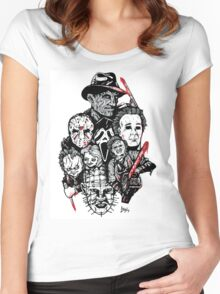 Horror Icons Women's Fitted Scoop T-Shirt