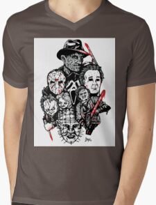 Horror Icons Mens V-Neck T-Shirt