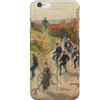 Antique Bicycling Print iPhone Case/Skin