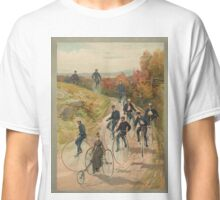 Antique Bicycling Print Classic T-Shirt