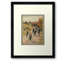 Antique Bicycling Print Framed Print