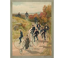 Antique Bicycling Print Photographic Print