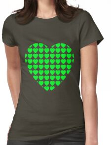 heart of hearts green Womens Fitted T-Shirt