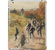 Antique Bicycling Print iPad Case/Skin