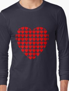 heart of hearts red Long Sleeve T-Shirt