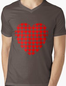 heart of hearts red Mens V-Neck T-Shirt