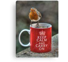 Keep Calm and Carry On Robin! Canvas Print