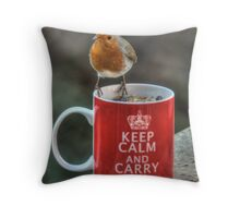 Keep Calm and Carry On Robin! Throw Pillow