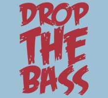 Drop The Bass (Red) Kids Clothes