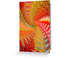 Abstract / Psychedelic Spiral Design Greeting Card