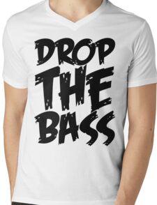 Drop The Bass (Black) Mens V-Neck T-Shirt