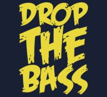 Drop Bass Not Bombs (Yellow)  Kids Clothes
