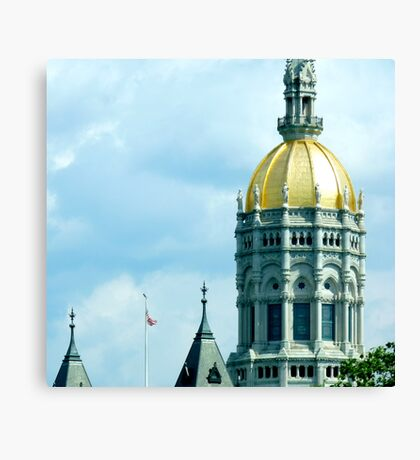 Capital Attention Canvas Print
