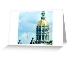 Capital Attention Greeting Card