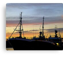 Winter Skies Over The Harbour Canvas Print
