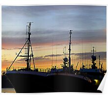 Winter Skies Over The Harbour Poster