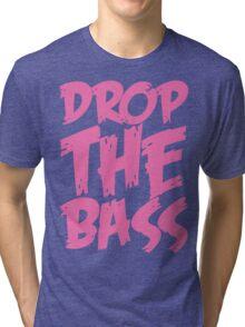 Drop The Bass (Light Pink) Tri-blend T-Shirt